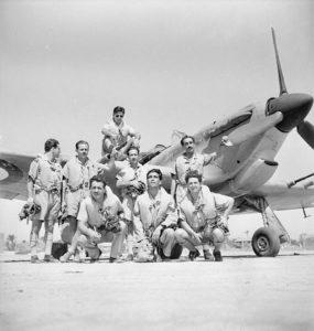 335_(Hellenic)_Squadron_RAF_Hurricane_pilots_Egypt_WWII_IWM_CM_3362