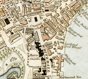 663px-Charing_Cross_London_from_1833_Schmollinger_map